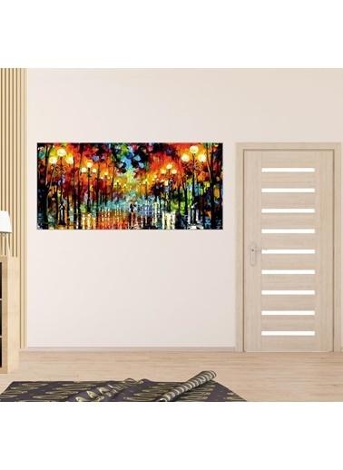 Chic Life Chic Life Işıklı Yol Manzara Kanvas Tablo - 60x135cm Renkli